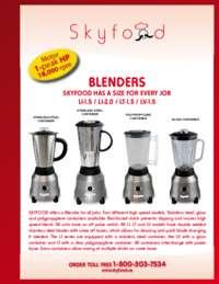 Blenders Spec Sheet