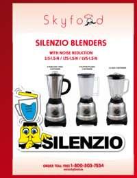 Silenzio Blenders Spec Sheet