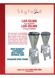 LAR 15LMB and LAR 25MB Spec Sheet