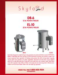 Potato Peeler Spec Sheet