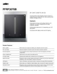 FFRF3070B Spec Sheet