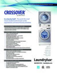 Washer and Dryer Stacked Specifications Sheet