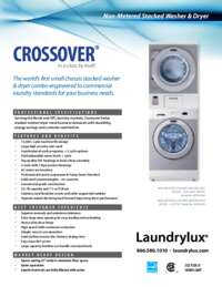 Washer and Dryer Non Metered Stacked Specifications Sheet