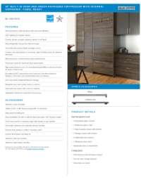 Panel Ready Flush Installation Specifications Sheet