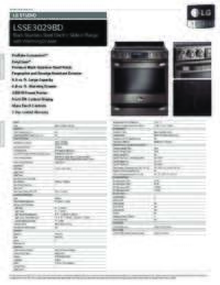 LSSE3029BD Spec Sheets