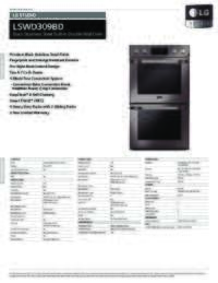 LSWD309BD Spec Sheets