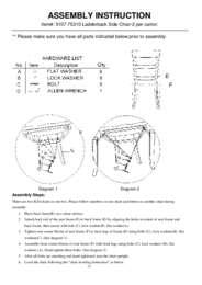 Sorella Ladderback Side Chair Assembly Instruction