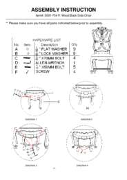 Adagio Wood Back Side Chair Assembly Instruction