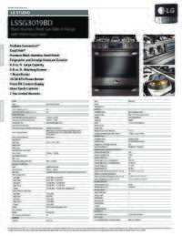 LSSG3019BD Spec Sheets