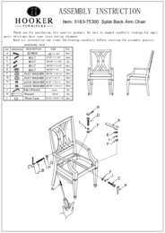 Palisade Splat Back Arm Chair Assembly Instruction