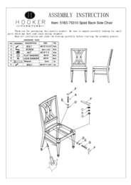 Palisade Splat Back Side Chair Assembly Instruction