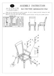 Palisade Upholstered Arm Chair Assembly Instruction