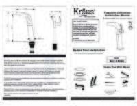 Faucet Installation Manual