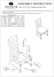 Treviso Ladderback Side Chair Assembly Instruction