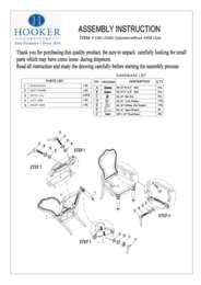 Dining Room Leesburg Upholstered Arm Chair Assembly Instruction