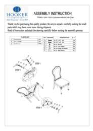 Dining Room Leesburg Upholstered Side Chair Assembly Instruction
