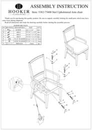 Studio 7H Stol Upholstered Arm Chair Assembly Instruction