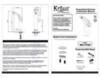 Illusio Faucet Installation Manual