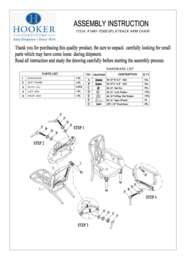 Dining Room Leesburg Splatback Arm Chair Assembly Instruction