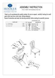 Dining Room Leesburg Splatback Side Chair Assembly Instruction