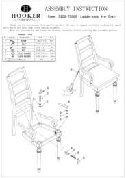 Tynecastle Ladderback Arm Chair Assembly Instruction