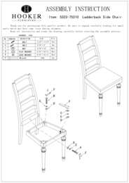 Tynecastle Ladderback Side Chair Assembly Instruction