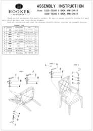 Sunset Point X Back Arm Chair Assembly Instruction