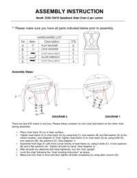Dining Room Chatelet Splatback Side Chair Assembly Instruction