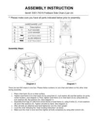Chatelet Fretback Side Chair Assembly Instruction