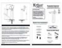 Sonus Faucet Installation Manual