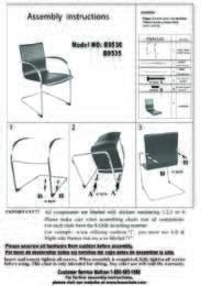 B9530 Assembly Sheet