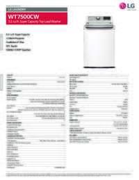WT7500 Spec Sheet