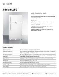 CTR21LLF2 Spec Sheet