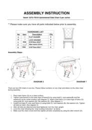 Grand Palais Upholstered Side Chair Assembly Instruction