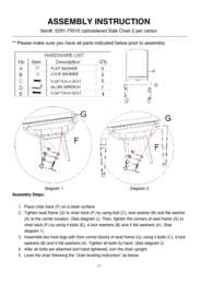 Solana Upholstered Side Chair Assembly Instruction