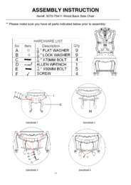 Rhapsody Wood Back Side Chair Assembly Instruction