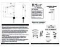 Virtus Faucet Installation Manual