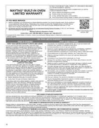 MEW9627FZ Warranty EN