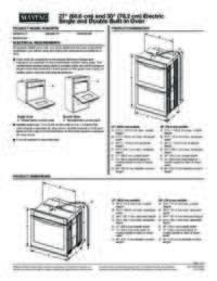 MEW9630FZ Dimension Guide EN