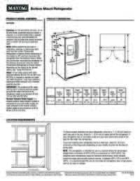 MFI2269FRZ Dimension Guide EN