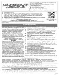 MFI2269FRZ Warranty EN