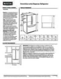 MFI2570FEZ Dimension Guide EN