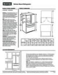 MFX2676FRZ Dimension Guide EN