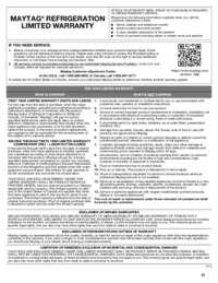 MFX2676FRZ Warranty EN