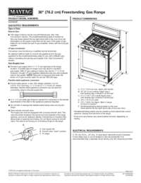 MGR8800FZ Dimension Guide EN