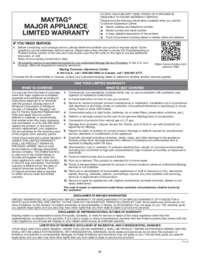 MGS8800FZ Warranty EN