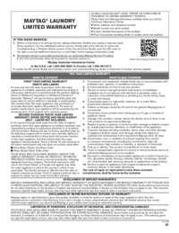MHW8150EW Warranty EN