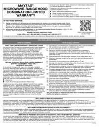 MMV4205FZ Warranty EN