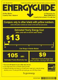 WM4370 Energy Guide Label