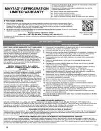 MRT118FFFZ Warranty EN